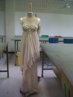 dress after adding shoulder tassels. #avantgardedress