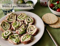 arrotolato prosciutto e mozzarella Antipasto, Prosciutto, Mozzarella, Finger Foods, Asparagus, Zucchini, Buffet, Side Dishes, Appetizers