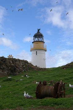 FIDRA island #lighthouse. Firth of Forth #Scotland http://www.flickr.com/photos/47260420@N02/5713632105