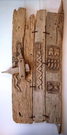 P9070611 Small house door, Dogon People, Bandiagara Escarpment, Mali (by ann porteus, Sidewalk Tribal Gallery)