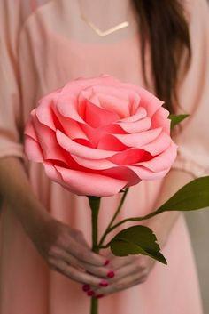 Obrie ruže z papiera