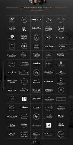 70 Elegant Logos (Extended License) Best Picture For Logo Design fonts For Your Taste You are lookin Logo Inspiration, Kreis Logo Design, Logo Branding, Branding Design, Corporate Branding, Business Branding, Logo Online, Graphisches Design, Vector Design