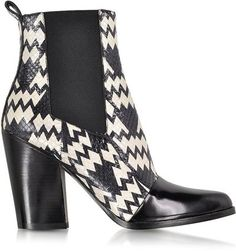 Pin for Later: Fabulous Fashion Accessories That Make Gorgeous Gifts  Kenzo Black and White Snake Print Ankle Boot (£625)