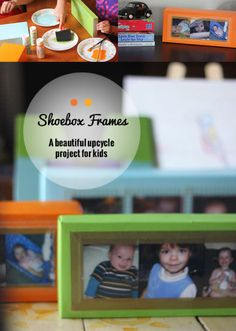 Make frames from shoebox lids! This easy #upcycled kid craft is a beautiful addition to kids' rooms! | ParsCaeli.com