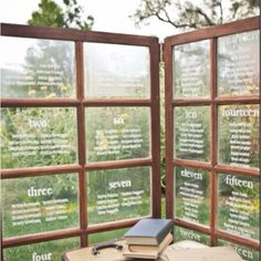 Guest Seating Chart using window panel