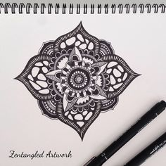 #zentangle #inkdrawing #doodle #linework #penandink #sharpiart #mandala #zendala