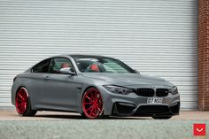 #BMW #F82 #M4 #Coupe #MineralGrey #VOSSENWheels #Provocative #Eyes #Tuning #Hot…