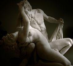 ❤ - Satyre et Bacchante. Marbre de Jean-Jacques Pradier (Genève, 1790 - Bougival, 1852). Musée du Louvre (Paris).