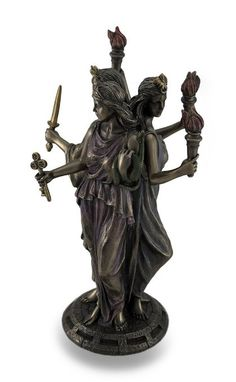 Amazon.com - Bronze Finish Triple Form Hecate Greek Goddess of Magic Statue -