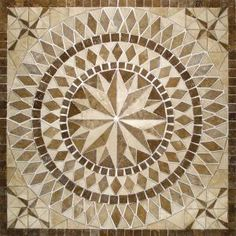 Natural stone mosaic for our entryway!
