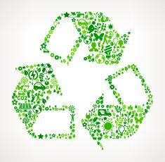 Recycling Symbol Environmental Conservation and Nature interface icon Pattern vector art illustration