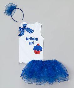 Loving this Royal Blue 'Birthday Girl' Tutu Set - Infant, Toddler & Girls on #zulily! #zulilyfinds
