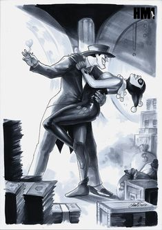 Joker and Harley Quinn by HM1ART Drawing 2017 by HM1art