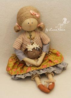 Lucias handmade Девочка с овечкой