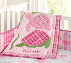 Pink Turtle Baby Bedding from Pottery Barn Kids Cute Turtles, Baby Turtles, Turtle Baby, Sea Turtle Nursery, Little Babies, Baby Kids, Turtle Quilt, Nursery Accessories, Nursery Themes