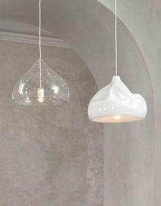 Direct light blown #glass pendant #lamp INHALE LAMP by Lasvit | #design Nendo @Lasvit