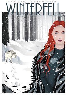 Poster Sansa STARK - Game of Thrones affiche - affiche de film, impression…