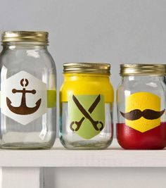 Handmade Charlotte Labels Glass Containers