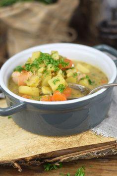 Grundrezept Gemüsebrühe & Kartoffelsuppe - Vegetable stock and Potato Soup