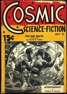 "Pulp magazine ""Cosmic Stories"", cover art by Elliott Dold (Albing Publications, 1941)"
