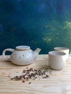 #handmadeteapot #ceramicteapot #minimalisticteapot #teacups #yunomi #aesthetic #homestudio #potterymaking #czechdesign  #green #blue #whiteglaze #atmosphere #ptohoshooting #backgrounddesign Ceramic Teapots, Pottery Making, Teacups, Tea Pots, Minimalist, Ceramics, Tableware, Green, Handmade