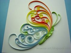 Quilling Butterfly     wesens-art.blogspot.com