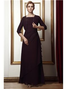 Glamorous Column Square Neckline Ankle-length Alina's Mother of the Bride Dress With Jacket/Shawl Mother of the Bride Dresses 2014- ericdress.com 3821186