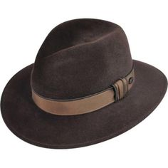 94480c5fb The Landis is a velour fur felt wide brim hat with a low profile pinch-