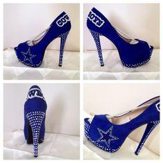 Custom heels Dallas Cowboys  heels  Cowboys bling by Blingshoeshop, $140.00