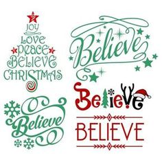 Believe Christmas Svg Cuttable Design