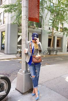 baseball cap with casual chic outfit