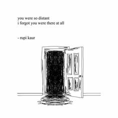 Sad Love Quotes : QUOTATION – Image : Quotes Of the day – Life Quote distance by rupi kaur Sharing is Caring Poem Quotes, Words Quotes, Wise Words, Sayings, Lyric Quotes, Pretty Words, Beautiful Words, Beautiful Sad Quotes, Rupi Kaur Quotes