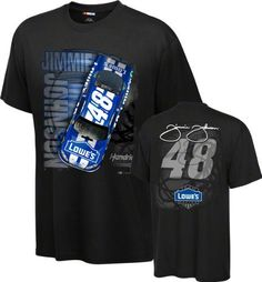 Jimmie Johnson #48 Lowe's Spinout T-Shirt by Checkered Flag. $26.99. As race day approaches, be sure to cover yourself in your favorite driver's colors with this Jimmie Johnson #48 Lowe's Spinout T-Shirt. Made from 100% cotton, this Jimmie Johnson t-shirt features vibrant screen print graphics and comes with a rib knit collar. Add a new look to your wardrobe this year with this stylish Jimmie Johnson t-shirt.