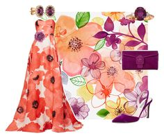 """""""Orange Bloom"""" by thymetorelax on Polyvore featuring Lela Rose, SJP, Gucci and LE VIAN"""