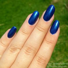 Acrylic nails with blue gelish. Getting ready for the norwegian national day.