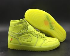 a28ee2e7a9 Air Jordan 1 Gatorade Cyber For Sale, Dressed in a Lemon-Lime color scheme.  This Air Jordan 1 Gatorade features a full leather constructed upper with  Orange ...