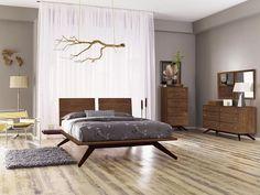 Copeland Astrid Solid Wood Bedroom Set - All About Decoration Walnut Bedroom Furniture, Wood Bedroom Sets, Living Room Furniture, Home Furniture, Bedroom Decor, Modern Furniture, Quality Furniture, Kitchen Furniture, Rustic Furniture