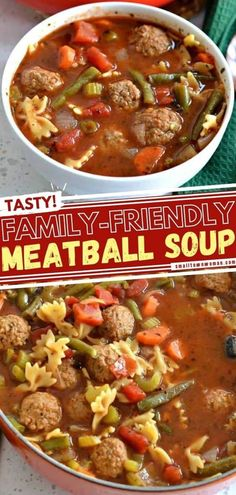 Chicken Meatball Soup, Italian Meatball Soup, Easy Soup Recipes, Cooking Recipes, Chili Recipes, Best Cornbread Recipe, Tasty Meatballs, Quick And Easy Soup, Italian Spices