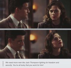 I love how Daniel wanted to fight for her here. <-even though peggy can defend herself. It's sweet