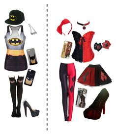 """""""Batman & Harley Quinn Collection"""" by jokersbiach ❤ liked on Polyvore featuring Casetify, Christian Louboutin, Kate Spade, batman and harleyquinn"""