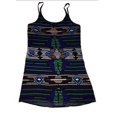 """Sam Edelman Sz S Aztec Embroidered Lined Dress NWT 🔸Sam Edelman Sz S Aztec Embroidered Lined Sleeveless Dress NWT🔸 Adjustable straps🔸Fun bold multi colors🔸 Lined 🔸 Length 31- Adjustable🔸Bust 34, 17"""" across laying flat🔸 Perfect for the summer! NWT Sam Edelman Dresses"""