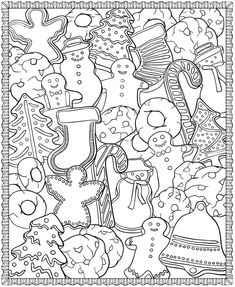 Christmas Designs Coloring Page - (doverpublications)