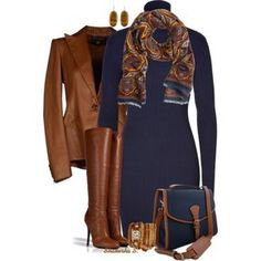 A fashion look from November 2013 featuring Ralph Lauren Blue Label dresses, Ralph Lauren Black Label blazers and Giuseppe Zanotti boots. Browse and shop relat…