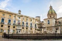 #Praetoria #square in #Palermo royalty-free stock photo