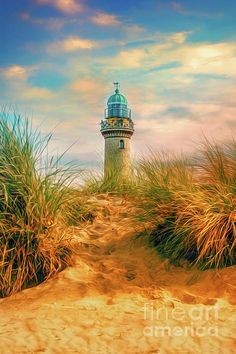 Baltic Sea - Lighthouse Warnemuende #baltic #sea #germany #leuchtturm #küste #ostsee #deutschland #stadt #rostock #himmel #wolken #dünen #sommer #brise #strand #sand #warnemuende #lighthouse #phare #côte #mer #baltique #warnemünde Framed Prints, Canvas Prints, Baltic Sea, Cn Tower, Around The Worlds, Lighthouses, Strand, Display Ideas, Geography