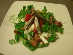 Ensalada de sardinas y pimientos de Lodosa