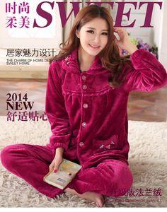 2014-New-Women-winter-Pajamas-Sets-Sleepwear-Nightclothes-Nightdress-flannel-Pajamas-Nightgown-nightshirt-BH-DX07-Free.jpg (750×956)
