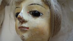 Face Detail - Flaking Under Eye Paint And Varnishes, Real Hair Wigs, 18th Century Fashion, Wooden Dolls, English Roses, Queen Anne, Antique Dolls, Wig Hairstyles, Conservation