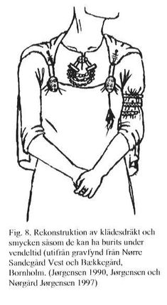 In Swedish prehistory, the Vendel Period comes between the Migration Period and the Viking Age. Viking Garb, Viking Reenactment, Viking Dress, Viking Costume, Norse Clothing, Historical Clothing, Woman Clothing, Viking Life, Viking Woman