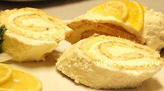 Лимонный рулет из бисквитного теста от videoculinary.ru